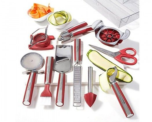 TumbleDeal.com - Wolfgang Puck 11-Piece Complete Kitchen Tool Kit - Red