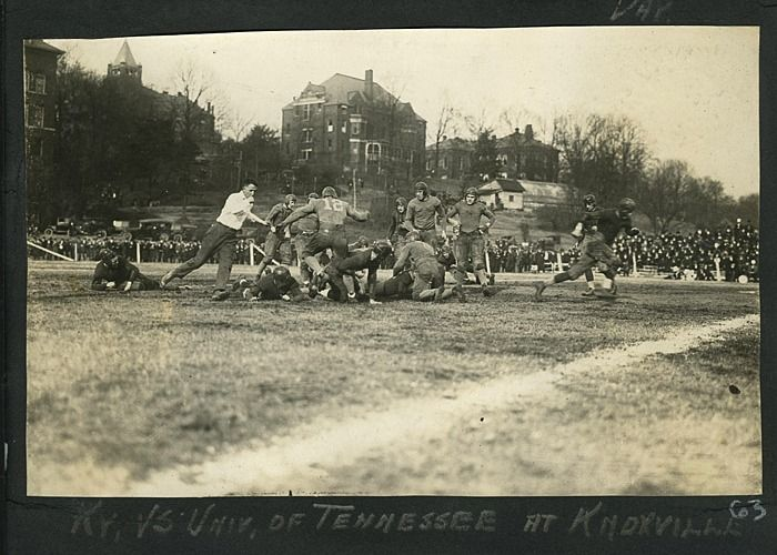 Perhaps you thought the UK Wildcats-UT Vols football rivalry is a recent phenomenon? This photo from the Abe Thompson photograph album, circa 1920-1923, in the University of Kentucky's archives, suggests otherwise!