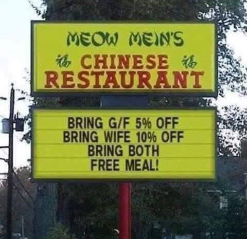 Don't know what I like more; the name of the restaurant or the special!
