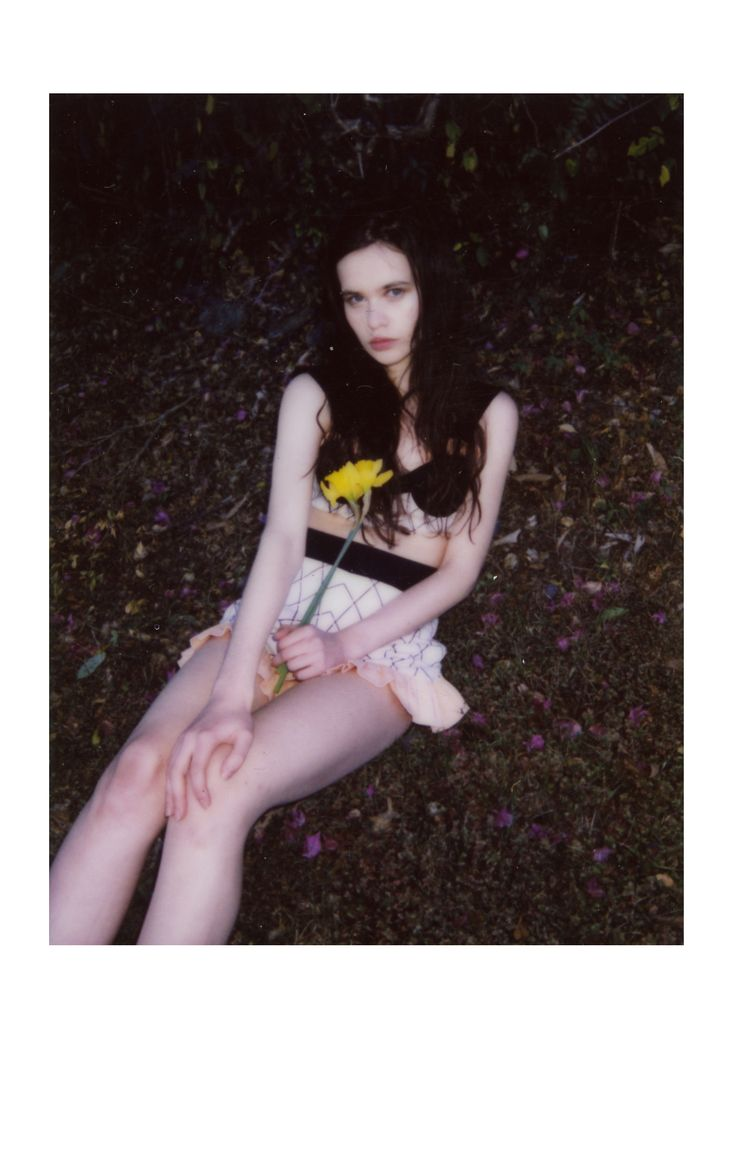 Polaroid of ABI Clothing: WND.LND Model: Abi Moro @abimoro_ @Busy Models Makeup: Poya Lin @poyalinmakeup  Photographer & Styling: Ingela Furustig @ingelafurustig