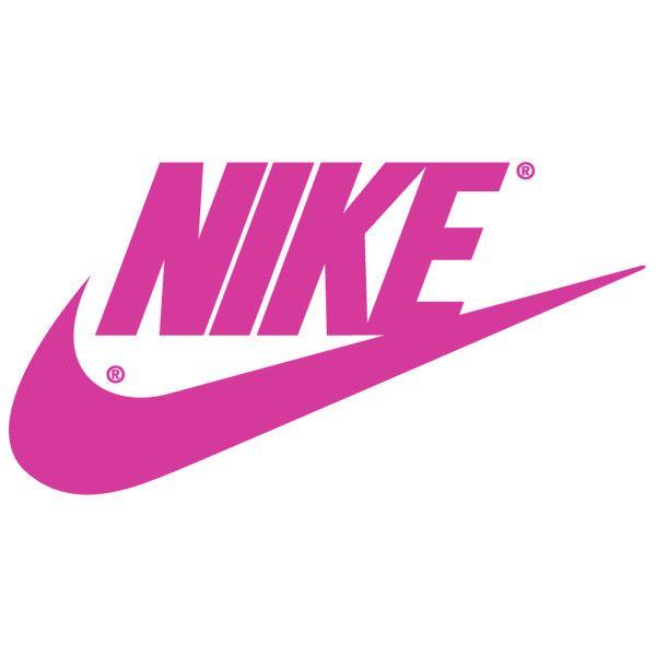 Fuschia Nike Logo | Nike Swoosh Logos ❤ liked on Polyvore