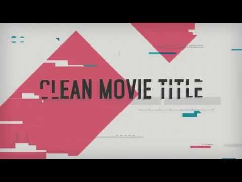 Clean Movie Title l After Effect Template l VideoHive 8526699