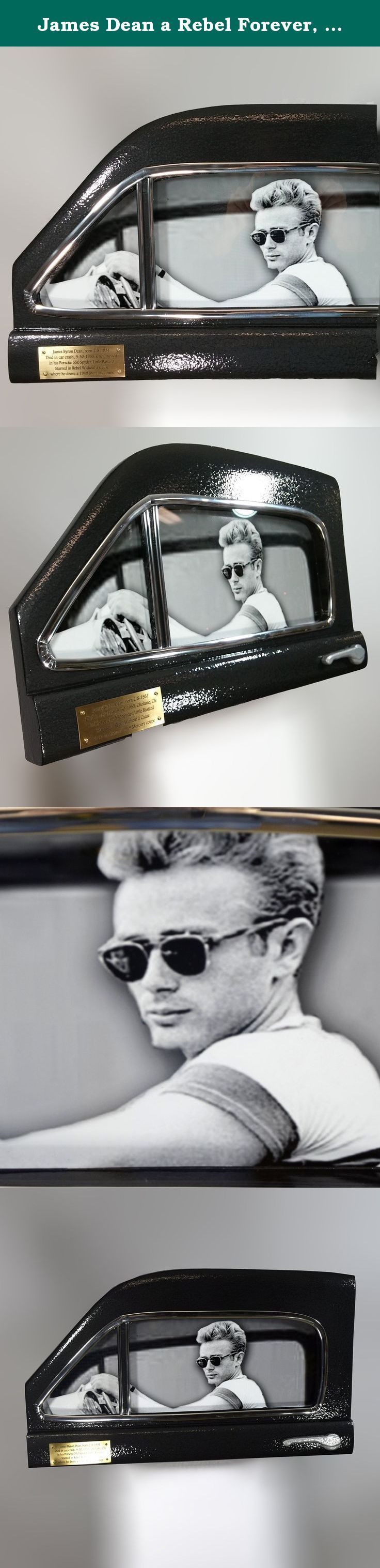 """James Dean a Rebel Forever, A Wall Art Memorial. William has completed a new 3D history wall art project and it is ready for sale in a limited release. It depicts James Dean in the 1949 Mercury coupe made famous in """"Rebel Without a Cause,"""" his second starring role. The photo of Dean used was taken while he sat in his Porsche 550 Spyder, nicknamed """"Little Bastard."""" Only a few days later, on September 30, 1955, Dean dies at age 24 in the Porsche headed to a car race in Salinas, California..."""