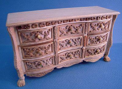"""Bespaq 1"""" Scale Versailles Unfinished Dresser"""