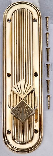 Great Art Deco Door Knob Set - comes in complete sets - entryway doors, locking bath, locking bedroom doors, closets - in many finishes too.