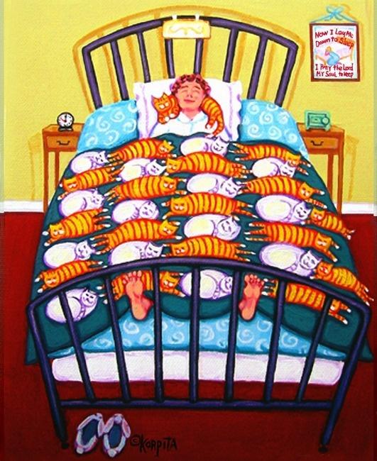 cat quilt: Crazy Cat Ladies, Cat Art, Orange Cat, Rebecca Korpita, Art Prints, Comforter, Puff, Cat Cartoon, Cat Quilts