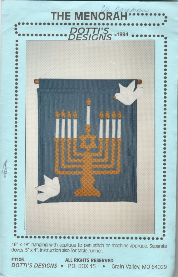 The Menorah Wall Hanging Pattern Jewish Festival of by mbchills
