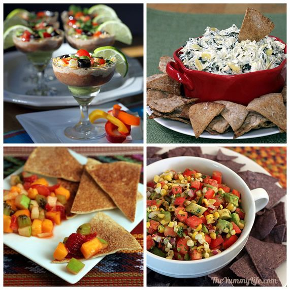 12 Healthy Party Dips. For no-guilt snacking and party food. www.theyummylife.com/Healthy_Party_Dips