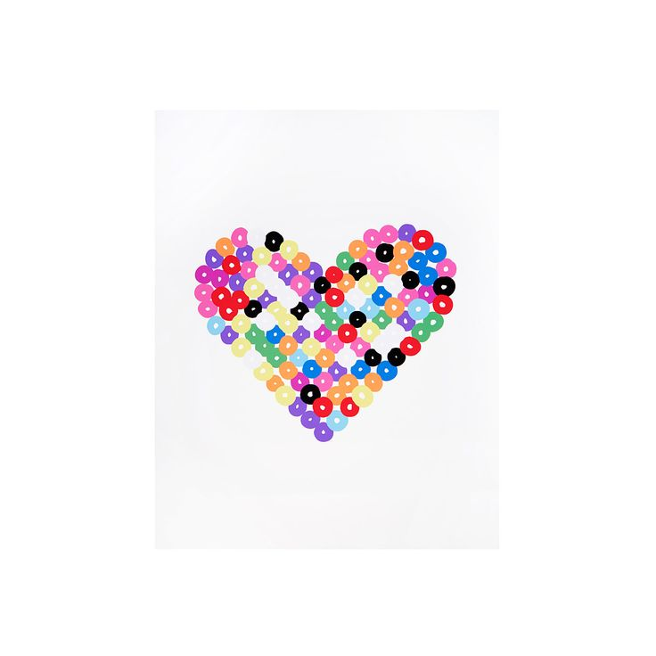 Melted Plastic Beads Print | bead art, perler beads | UncommonGoods