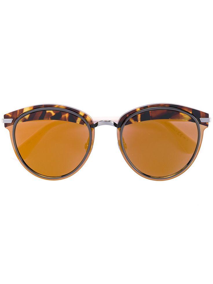 Dior Eyewear tortoiseshell brim sunglasses
