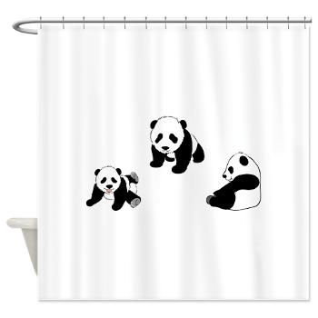 Pandas At Play Shower Curtain