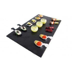 Bandeja grande de pizarra natural -- 8.29 € Presentaciones culinarias: siempre perfectas! http://www.materialdirecto.es/es/platos-servir/60539-bandeja-grande-de-pizarra-natural.html