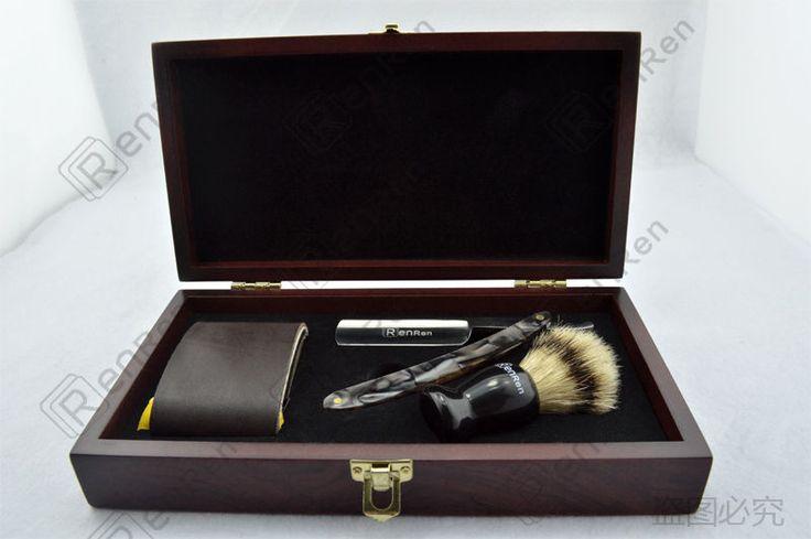 Black Shave Kit Knife Straight Razor Shaving Brush and leather Strop Gift #14 | Collectibles, Vanity, Perfume & Shaving, Shaving | eBay!