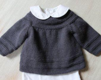 Brassière Bébé / Explications tricot en Anglais PDF Téléchargement instantané / 4 Tailles : Naissance / 3 mois / 6 mois et 12 mois