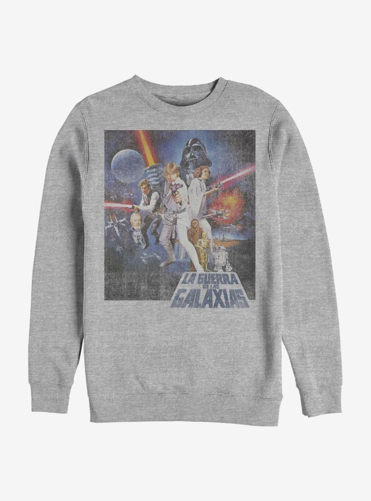 Star Wars La Guerra De Las Galaxias Crew Sweatshirt Hot Topic, Products, Star Wars, Gadget