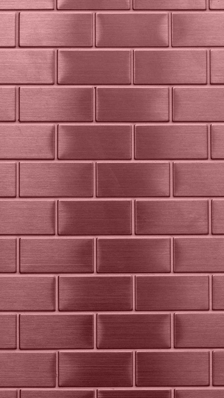 Rose Gold Brick A Spectacular Wallpaper And Or Background For Your Iphone Samsung Galaxy Or Other Smartph Rose Gold Wallpaper Gold Wallpaper Samsung Wallpaper