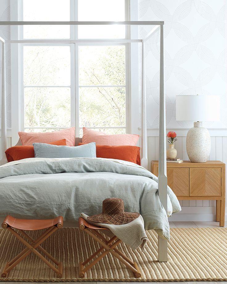 Owens Wallpaper In 2021 Linen Duvet Covers Four Poster Bed Linen Duvet
