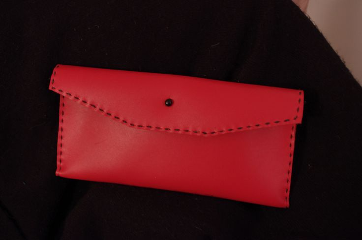 simple but elegant tomato red clutch