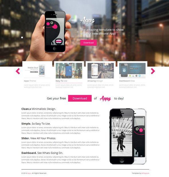 appz single page responsive website template