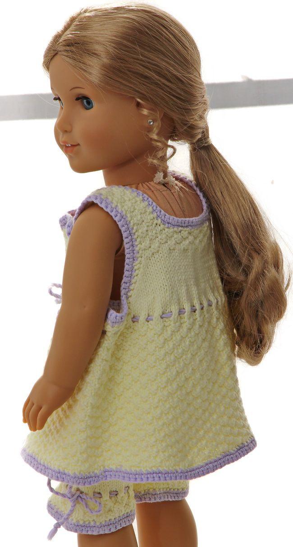 Strikkemønster til dukkeklær