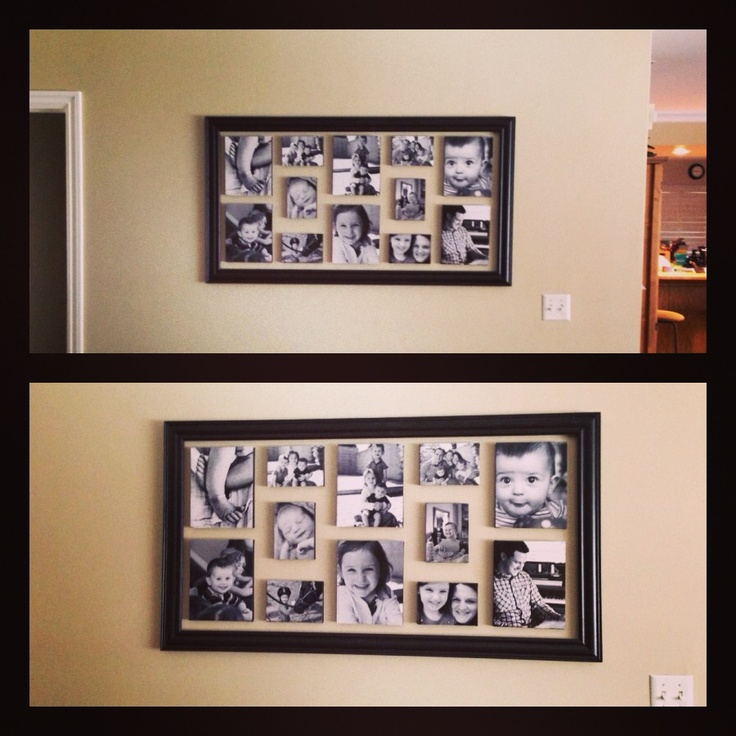 Wall picture arrangement with frame.