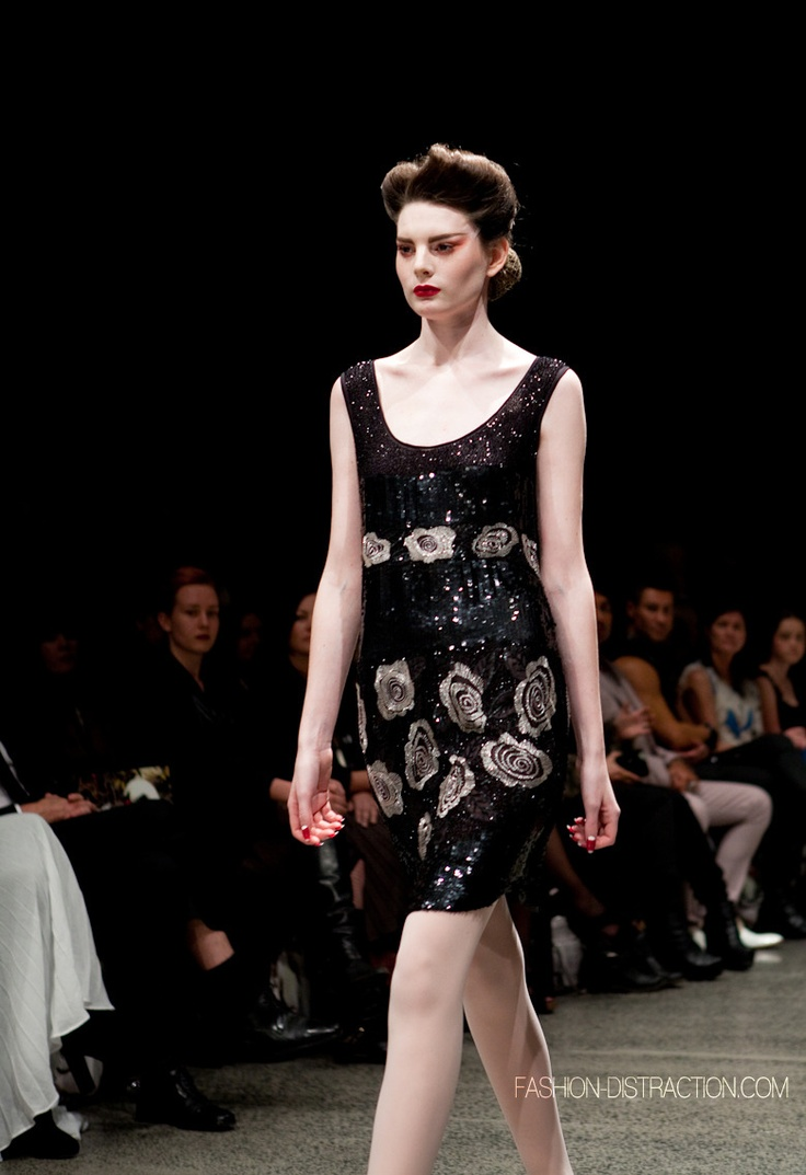 Trelise Cooper, New Zealand Fashion Week - love the dark romanticism and femininity of this dress.