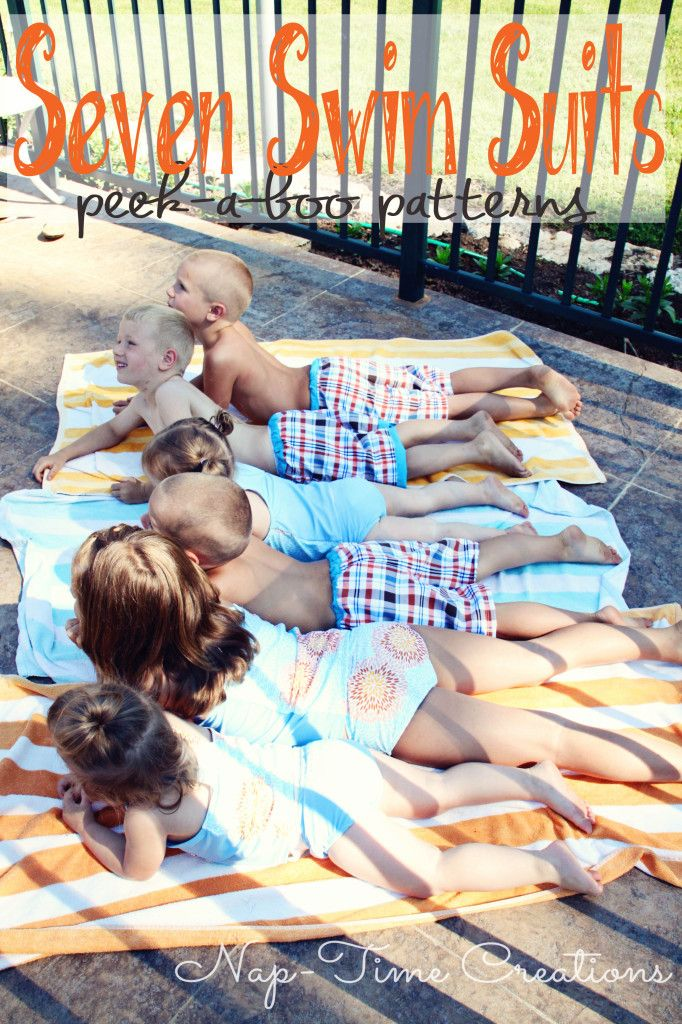 Swimsuit Patterns for Kids boys and girl swim pattern from Peek a Boo Pattern shop