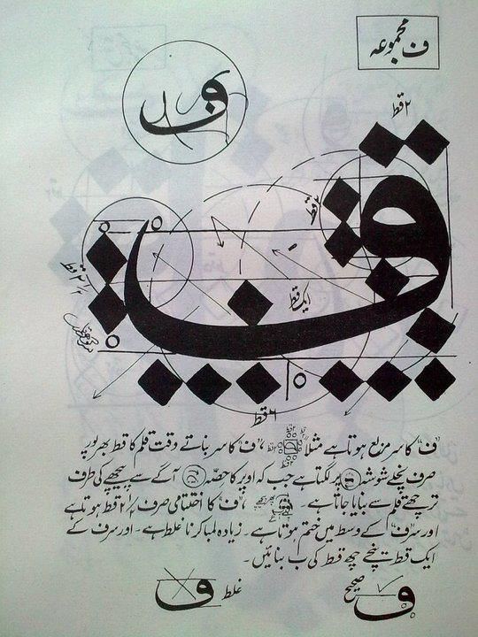took from famous calligraphist Khurshid Gohar Qalam