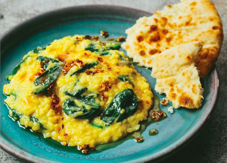 Yellow Mung Beans With Fresh Spinach Recipe