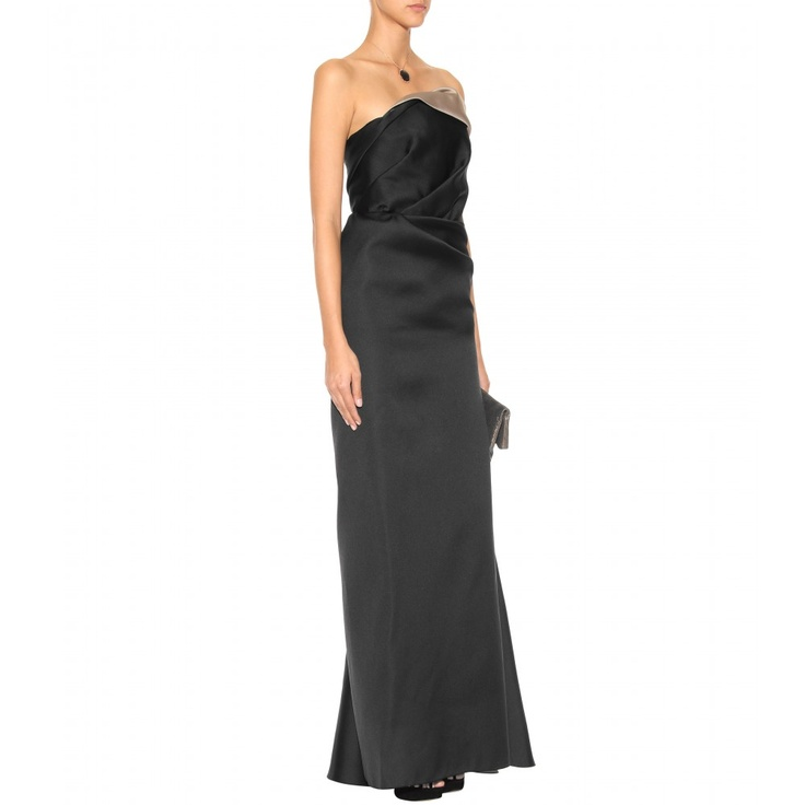 Lanvin Strapless Draped Gown