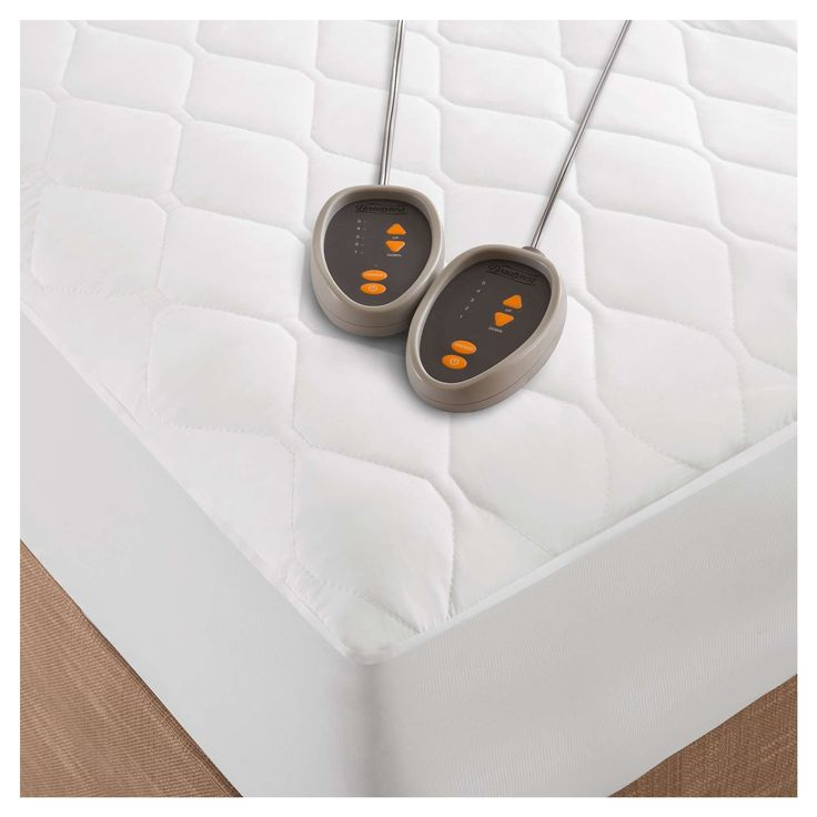 Microfiber Heated Mattress Pad with 3M Scotchgard (Cal King) White