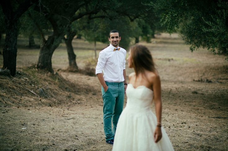 I love being able to see the groom's face! And this also gets the shot of the the dress!