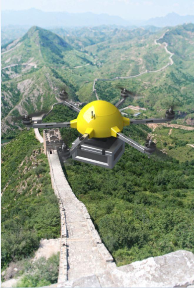 Dron muralla