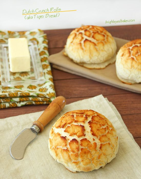 Dutch Crunch Rolls aka Tiger Bread I want this. Right now. Only, I dont want to make it.