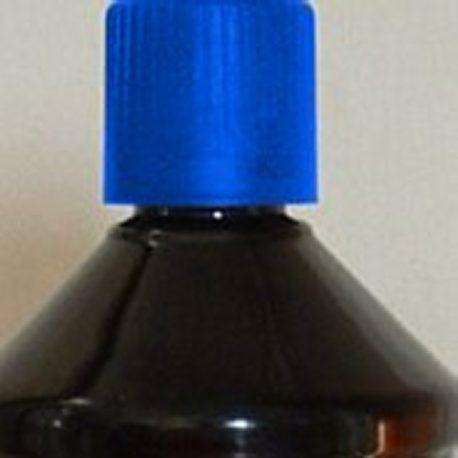 Huile de paraffine bleue pour lampe à huile ou torche de jardin.