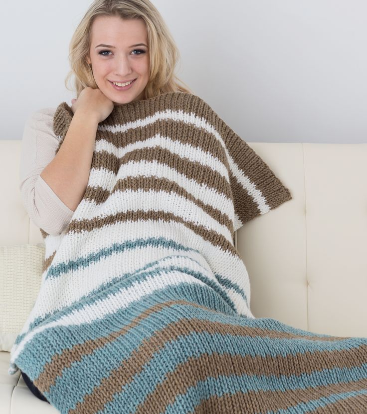 'Back to Basics' Blanket (double knit) A GREAT PATTERN FOR BEGINNERS!!  …an introduction to double knit. No matter how fierce the winter gets, this lovely throw will keep you warm and cozy