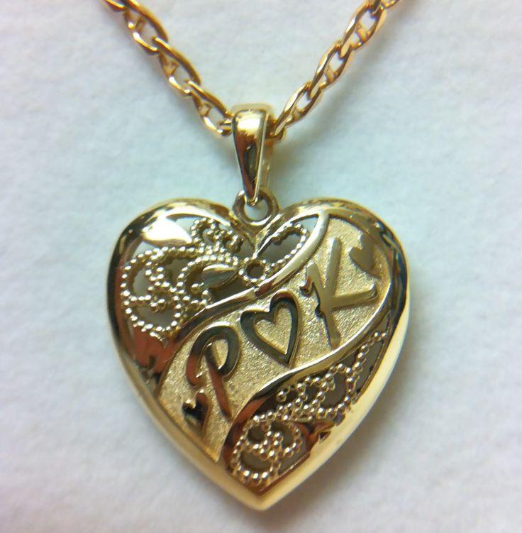 Initials heart pendant