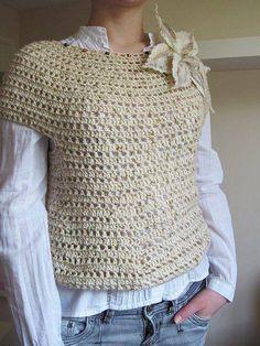 Fada do Crochet: BLUSA LINDA E SIMPLES....