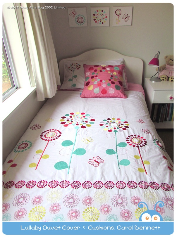 Lullaby Duvet Cover & Cushions, by Carol Bennett.  Vote for Carol if you think this is the best kids room!