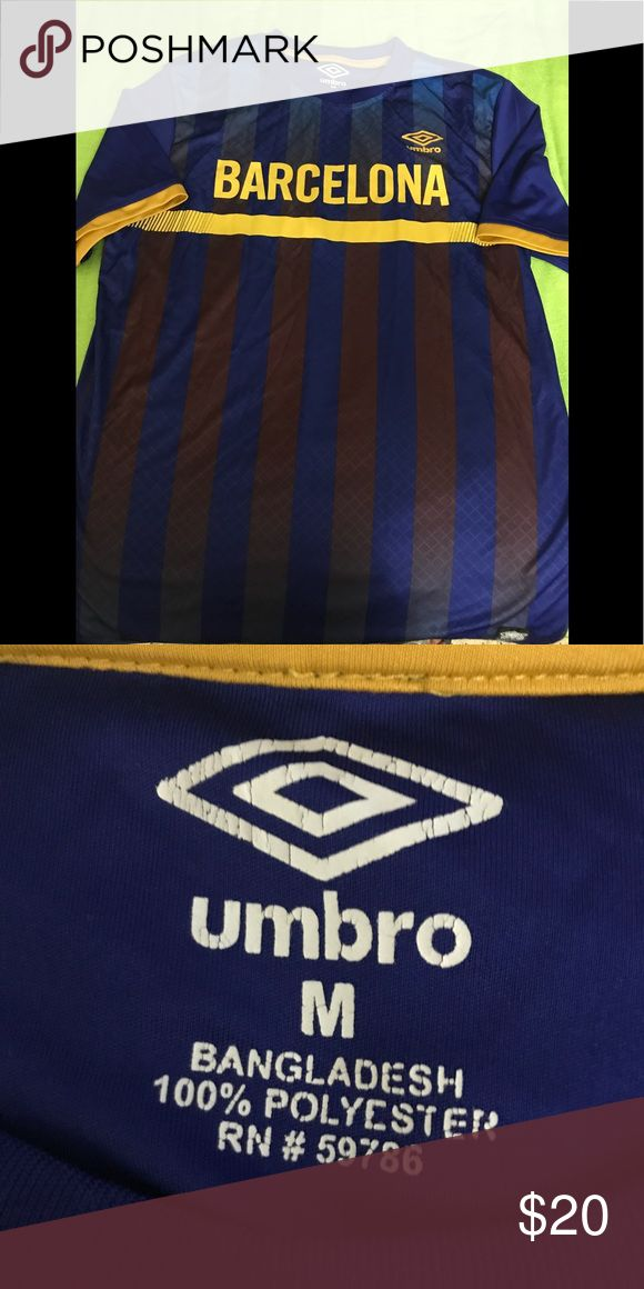 Umbro Sport Shirt Barcelona Sport shirt navy blue and yellow Umbro Shirts