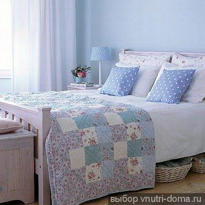 Интерьер спальни в голубых тонах фото ideal-home-magazine