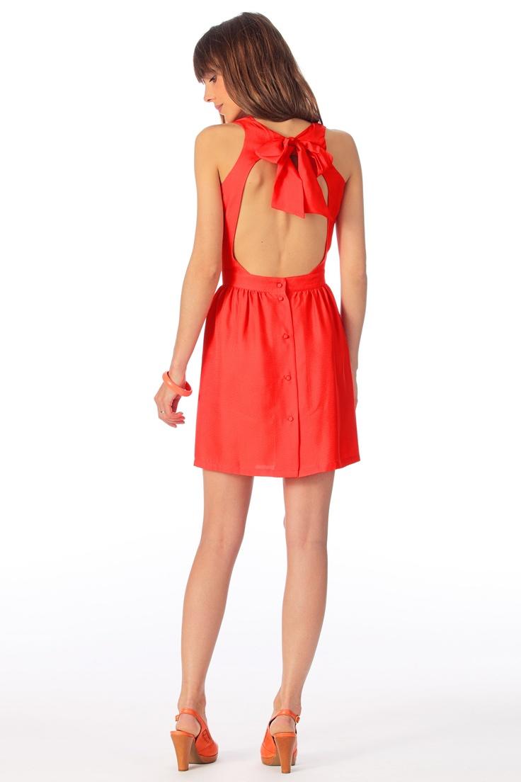 Robe en Soie You Can Dance Rouge / Corail Sessun sur MonShowroom.com