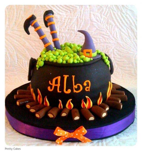 Cauldron Witch Cake