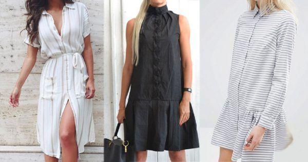 На территории моды: 15 стильных платьев-рубашек и с чем их носить. — В Курсе Жизни
