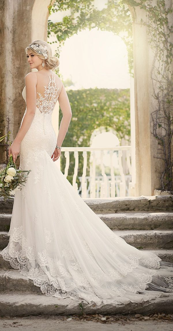 vintage lace wedding dresses with beautiful back for 2016 trends essense of australia