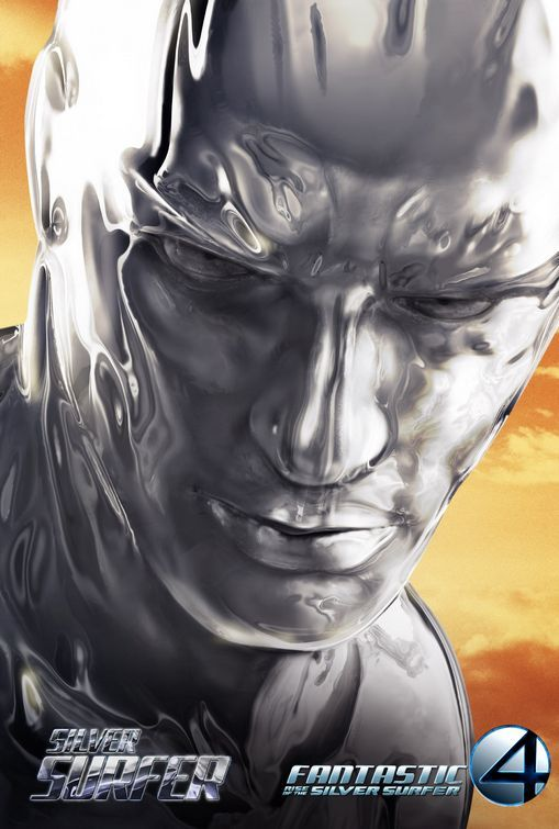 """Publicity poster for the """"Fantastic Four: Rise of the Silver Surfer"""" - 2007."""