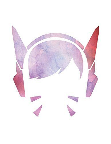 Overwatch Poster D.Va Portrait Home Print | Watercolor Wall Decor Gamer