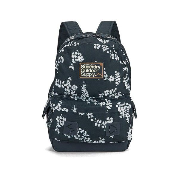 Superdry Women's Hampton Montana Backpack ($40) ❤ liked on Polyvore featuring bags, backpacks, polyester backpack, rucksack bag, superdry bag, backpacks bags y blue backpack
