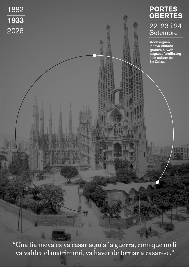 1933 // Campanya Portes Obertes, Puertas Abiertas, Open Days 1882 | 2026 Sagrada Familia #design #barcelona #sagradafamilia #photography