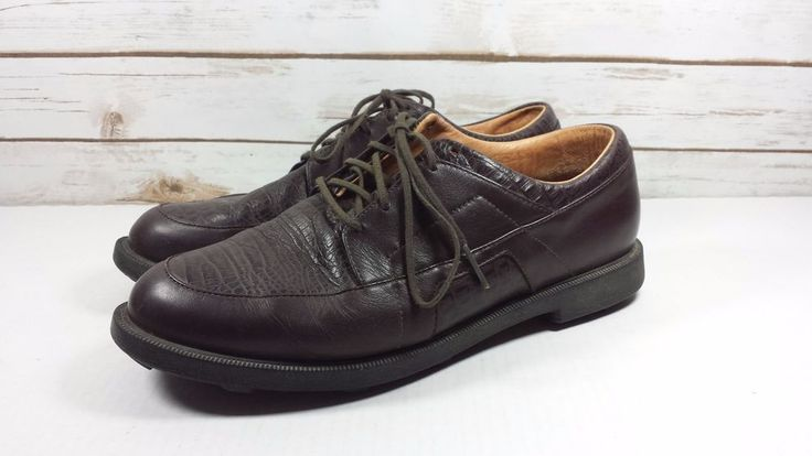 Adidas Adiprene Traxion Fit Foam Brown Leather Oxford Golf Shoe Size 10 M